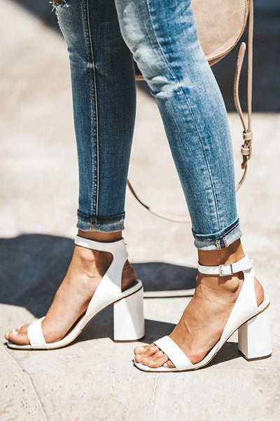 Hollow High Heel Sandals - girlyrose.com