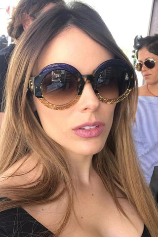 Color Block Bling Sunglasses - girlyrose.com