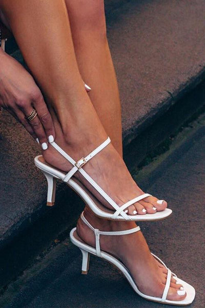 strappy High Heel Sandals - girlyrose.com
