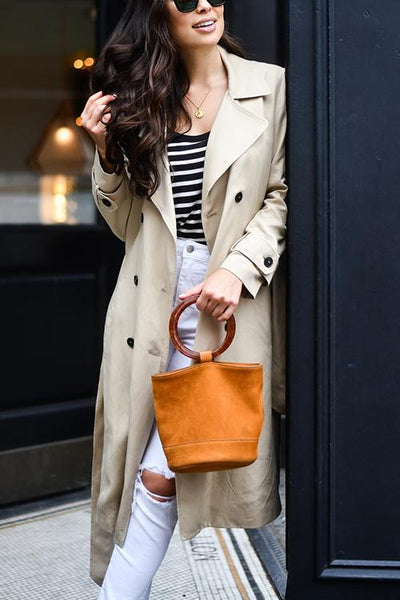 Clssical Double Breasted Trench Coat - girlyrose.com