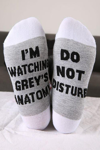Do Not Disturb Sock - girlyrose.com