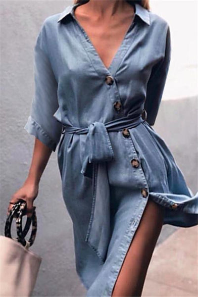 Button Up Midi Dress