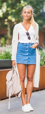These Denim Skirt Outfits Will Make You Become A Headturner