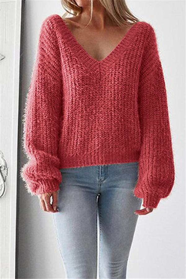 Big V Neck Sweater