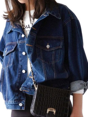 Casual Chest Pocket Denim Jacket Coat