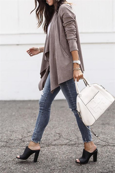 Casual Drape Jacket - girlyrose.com