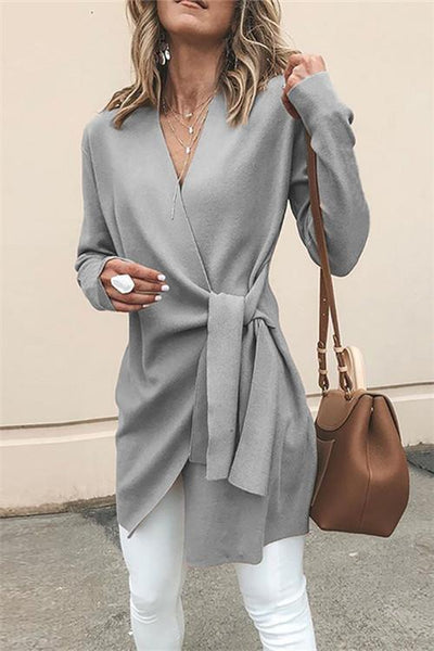 Casual Self Tie Coat