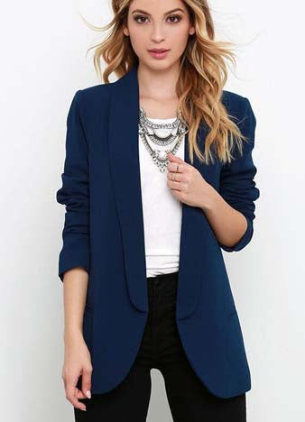 Chic One Button Short Suit Blazer - girlyrose.com