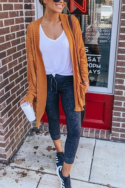 Classical Pocket Knit Cardigan - girlyrose.com