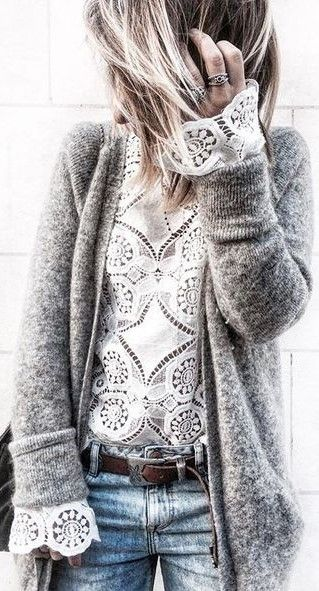 Long Sleeve Open front Knitted Loose Cardigan - girlyrose.com