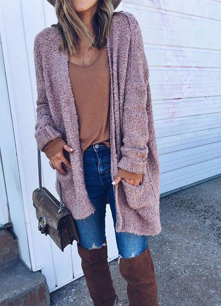 Comfy in Fascination Cardigan in Pink