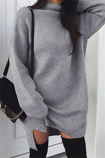 Cozy Sweater Dress - girlyrose.com