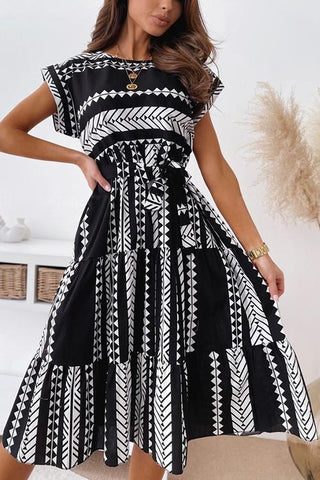Print Belted Dress