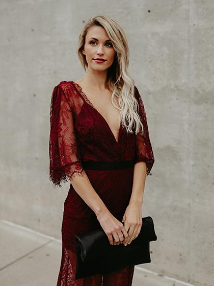 Ecstatic Burning Lace Floral Print Maxi Ruby Cover Up - girlyrose.com