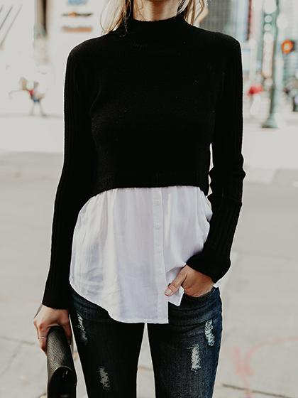 Fashion Flared Casual Sweater - girlyrose.com