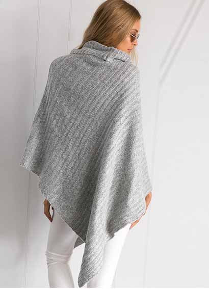 Fashion Gorgeous Thick Knit High Neck Solid Color Sweater Top