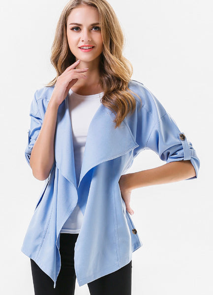 Fashion Jeans Blue Coat - girlyrose.com