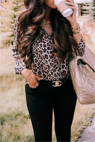 Fashion Leopard Printed Shirt