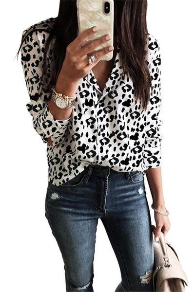 Fashion Leopard Printed Shirt - girlyrose.com