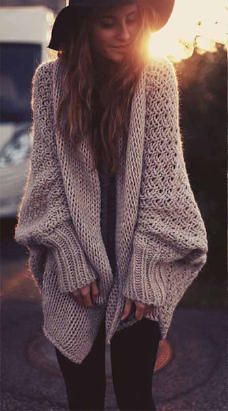 Fashion Long Sleeve Crochet Solid Color Top - girlyrose.com