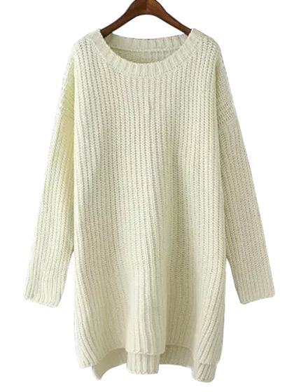 Fashion Oversize Solid Color Sweater