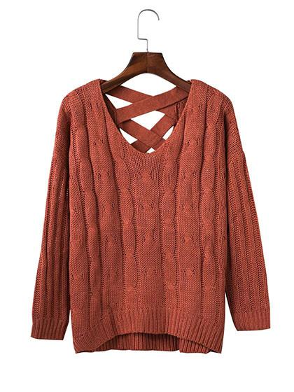 Fashion Teenage Knit Solid Color Top