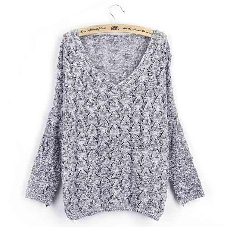 Fashion Weave Pure Color Sweater