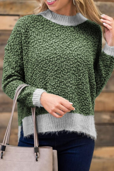 Green Popcorn Sweater - girlyrose.com