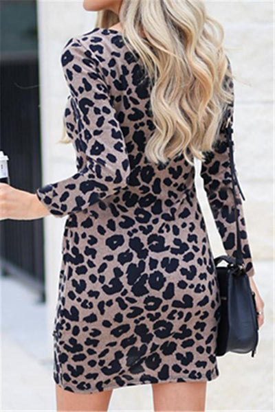 Leopard Bodycon Dress - girlyrose.com