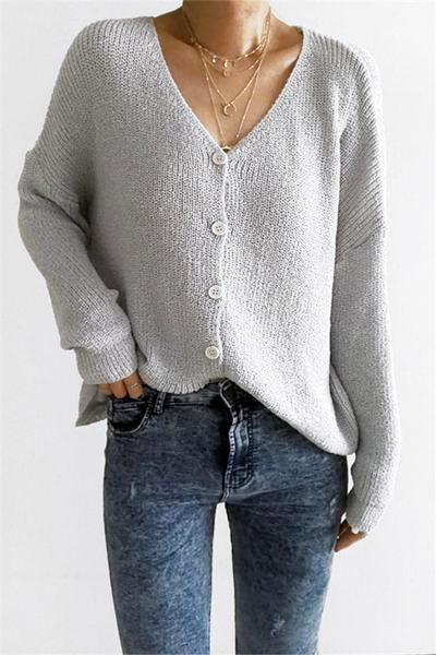 Loose Button Up Cardigan