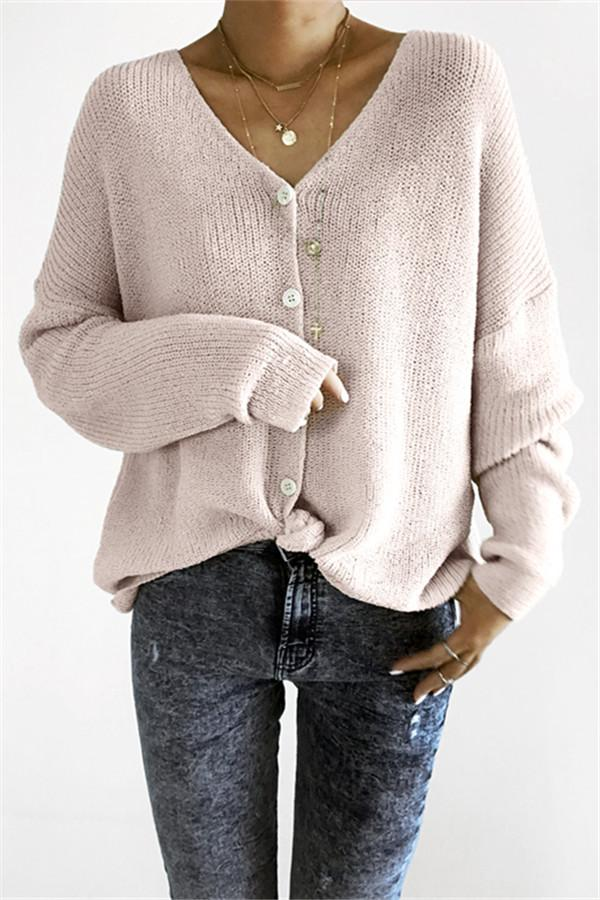 Loose Button Up Cardigan - girlyrose.com