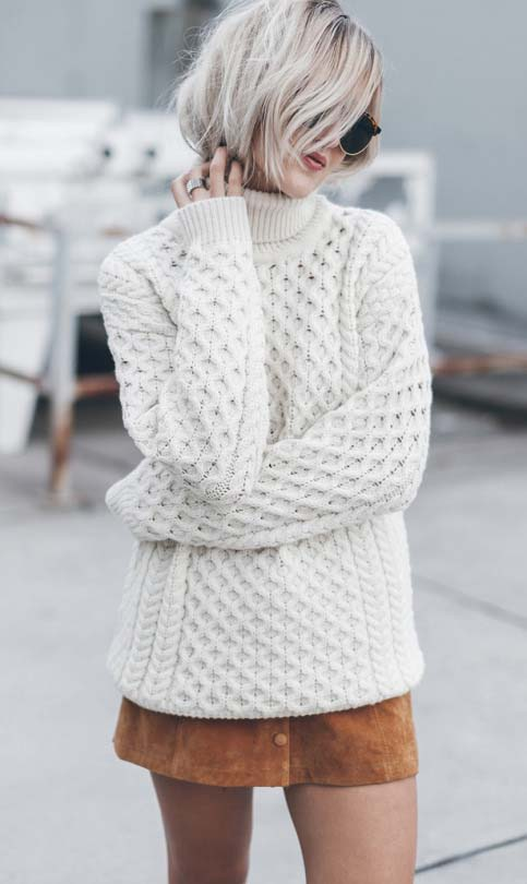 Cozy up Knit Sweater - girlyrose.com