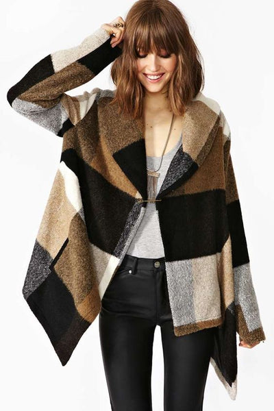 Prairie Check Rabato Coat by Chic+ - girlyrose.com