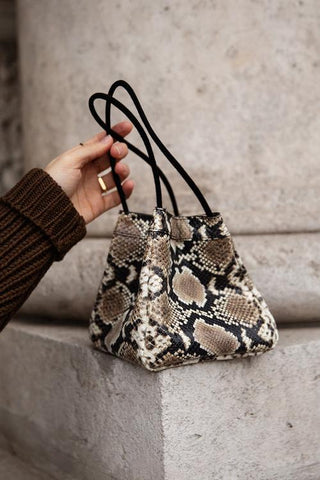 Vintage Snakeskin Bucket Bag