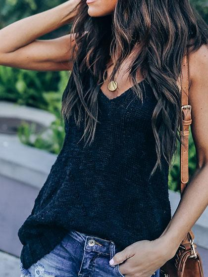 Simple Knit Tank Top
