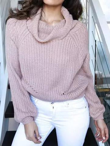Solid Color Stylish Casual Turtleneck Sweater