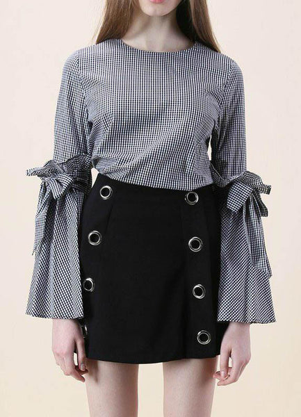 Stripes Charisma Top with Bell Sleeves