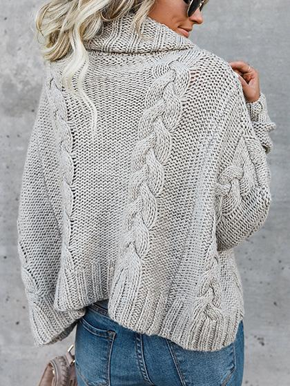 Stylish Casual Solid Color Sweater - girlyrose.com