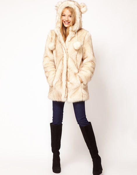 Stylish Hoodie Loose Coat - girlyrose.com