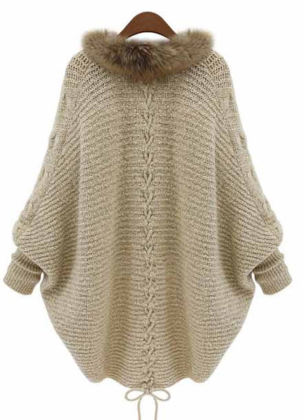 Stylish Knit Batwing Sleeve Oversize Cardigan - girlyrose.com