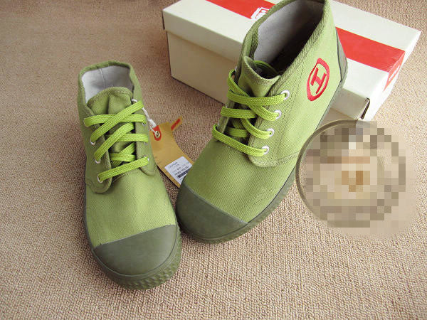 Ospop release shoes Retro High Top canvas shoes trend military training shoes - girlyrose.com
