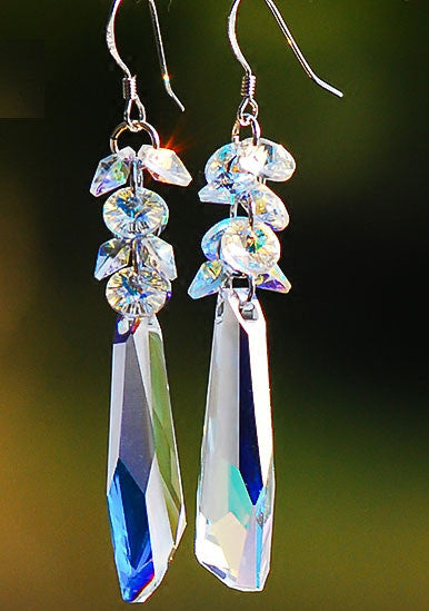 Crystal Cone Earrings
