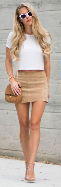 Seude Bodycon Pencil Skirt - girlyrose.com