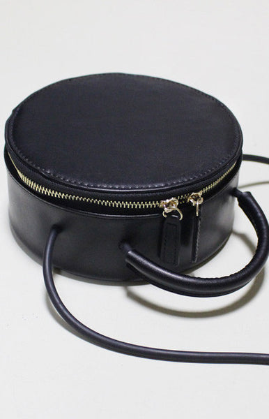 Genuine Leather round bag - girlyrose.com