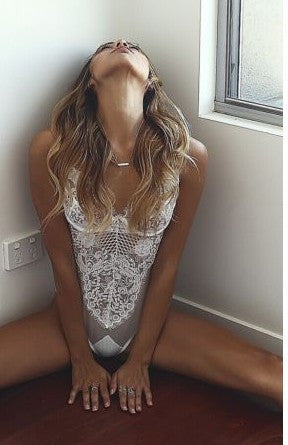 Sexy Women Strappy Lace Bodysuit Lingerie - girlyrose.com