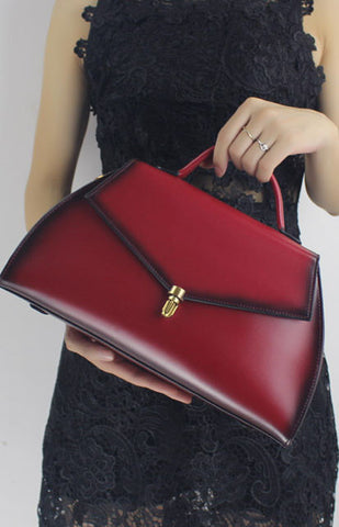 Genuine Leather handbag shoulder bag for women leather crossbody bag - girlyrose.com