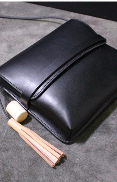 Handmade leather shoulder bag messenger bag small satchel