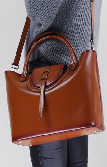 Leather handbag shoulder bag brown black Gray Red for women leather crossbody bag