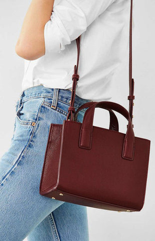 Cooperative Structured Mini Tote Bag - girlyrose.com