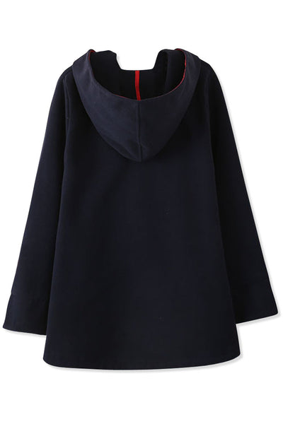 Essential Fashion Hooded Woolen Cape - girlyrose.com